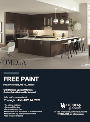 U S Kitchens and Baths Omega Free Paint Offer