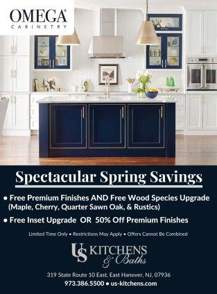 flyer for Omega Spectacular Spring Savings at U S Kitchens